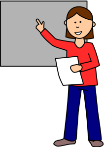 Illustration of student presenting